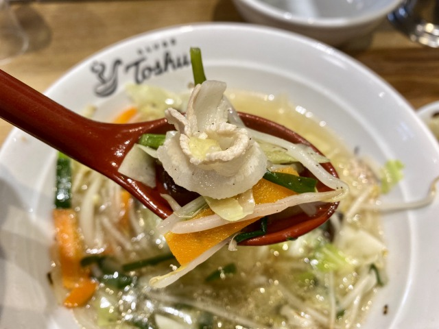 れんげ食堂Toshuの野菜スープ胡椒入り