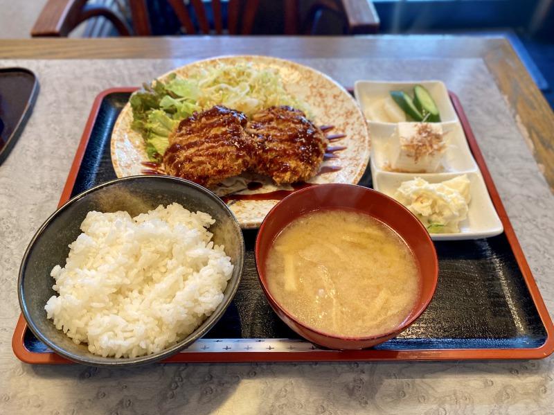 高井戸の喜代司のメンチカツ(自家製)定食