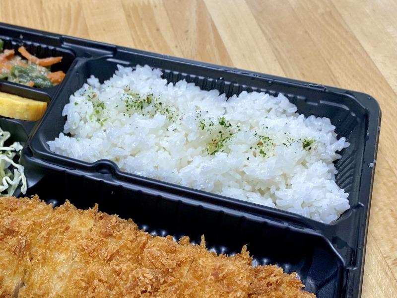 さぼてん浜田山壱番街店の特撰やわらかヒレかつ弁当のご飯