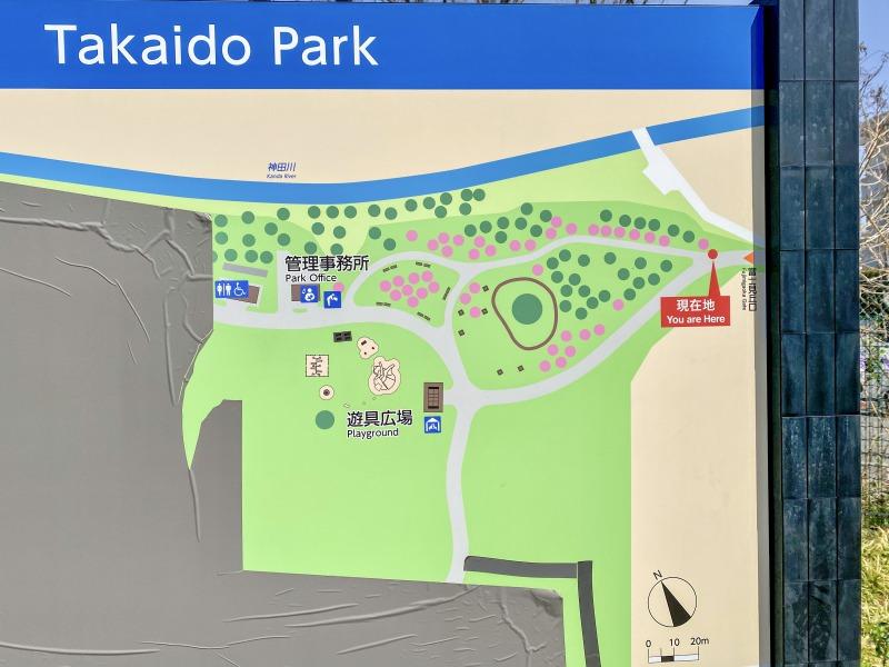 高井戸公園のマップ(アップ)
