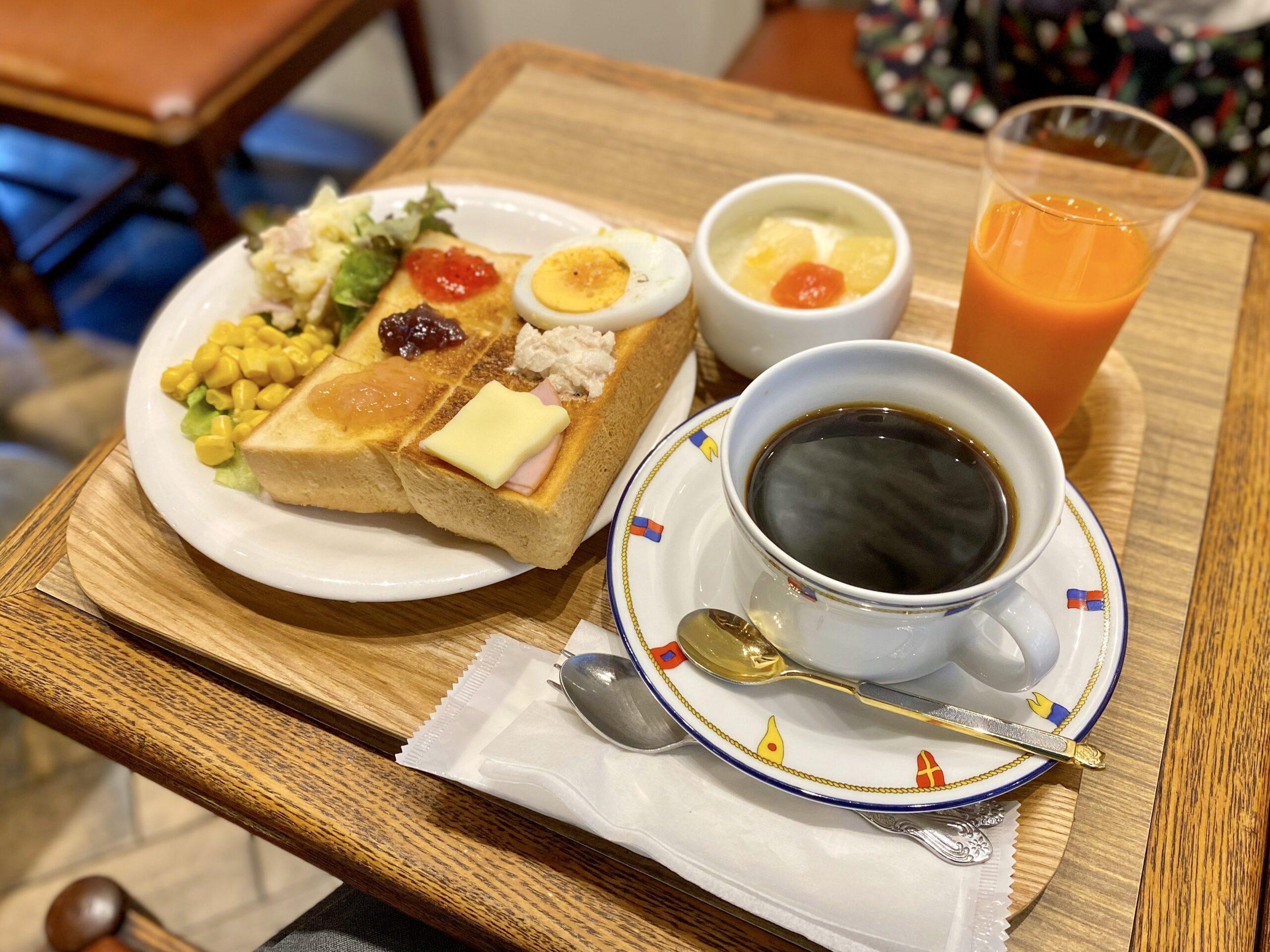 喫茶マカボイのスペシャルモーニングセット