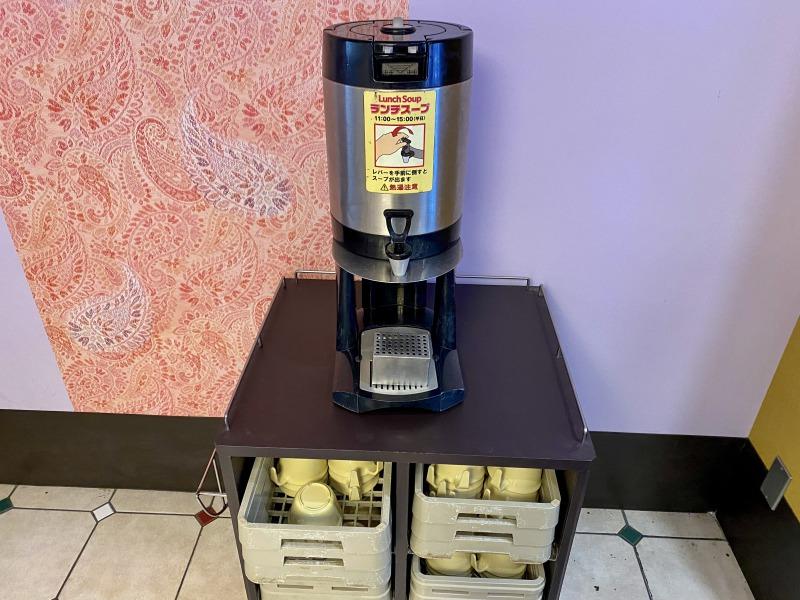 サイゼリヤ浜田山店のランチスープのマシン